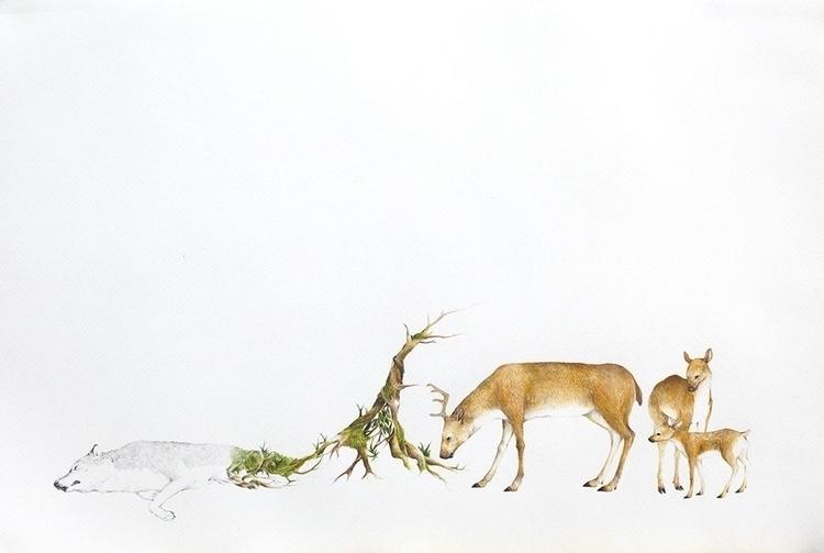 Revolve - drawing, #animals, fineart - ayumiinagaki | ello