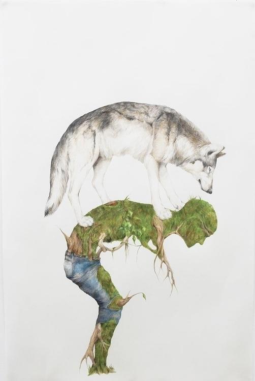 human - drawing, #animals, fineart - ayumiinagaki | ello