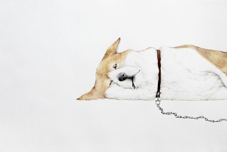 Ironic - drawing, fineart, dog - ayumiinagaki | ello