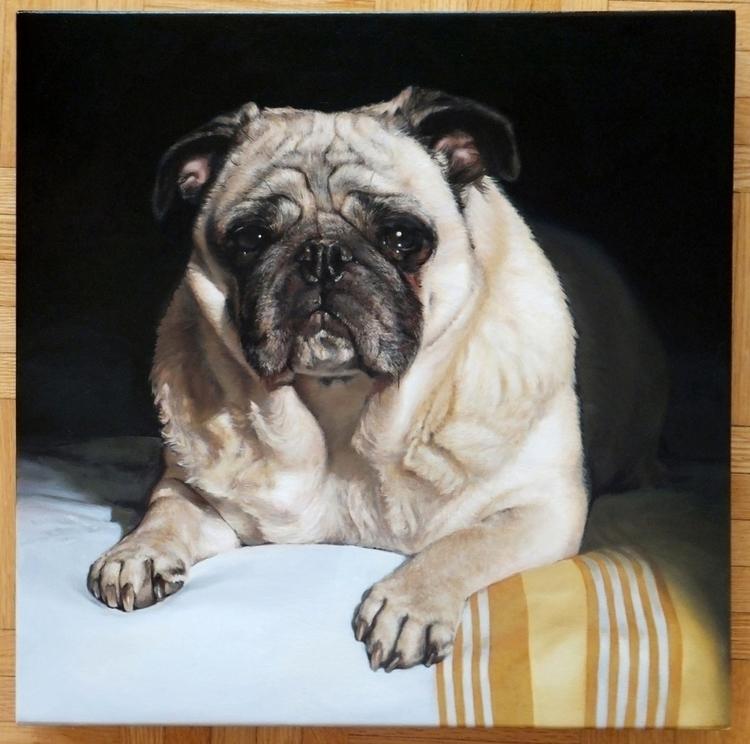 Kobi - Dog Portrait Classical R - kryskoarts | ello