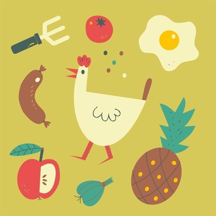 FOOD - food, foodillustration, foodicons - schnuppe | ello