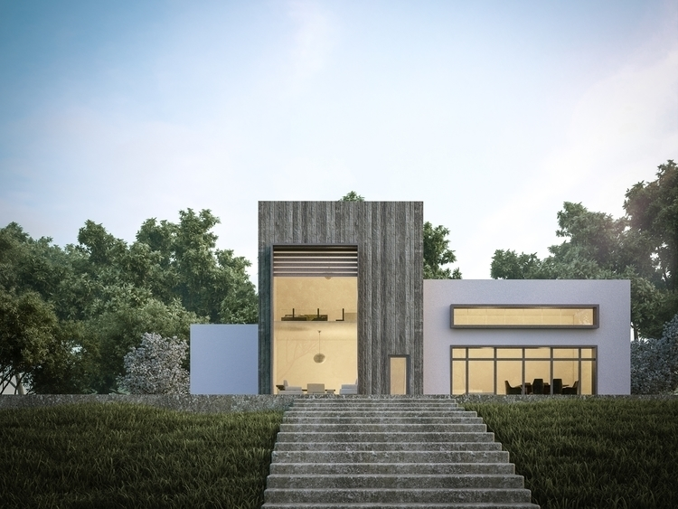 FOREST HOUSE - 3dsmax, vray, architecture - ibrahim_alameer | ello