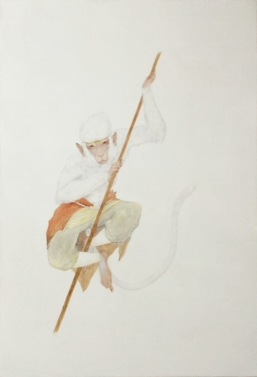 Sun wukong - painting, drawing, oil - ayumiinagaki | ello