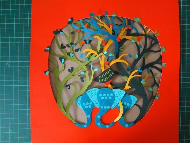 'Gond' inspired paper-cut - papercraft - janakilele | ello
