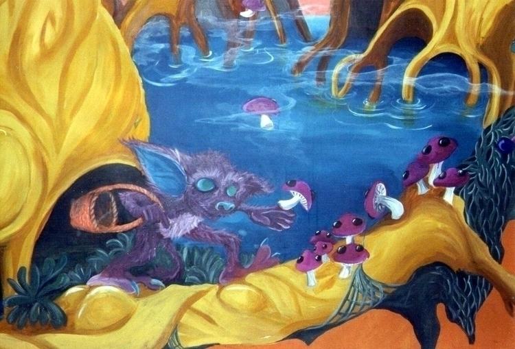 Detail fantasy wallpainting bak - mischanaaraat | ello