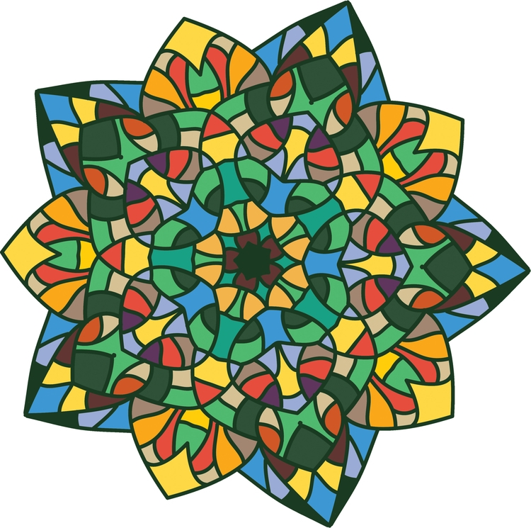 Stained glass flower - flowers, floral - gretaberlin | ello