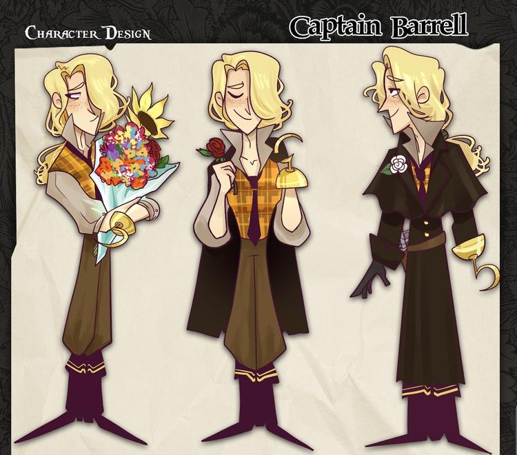 character design! Captain Barre - kparnold | ello