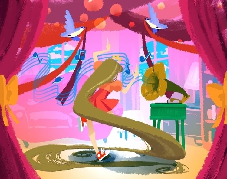 Rapunzel, disney, princess, digital - scookart   ello