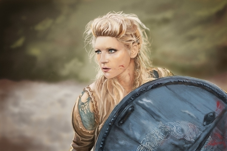 Lagertha, digital drawing - vikings - ausmakalnina | ello