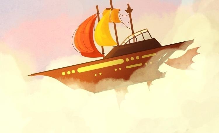 steampunk ship - kparnold | ello