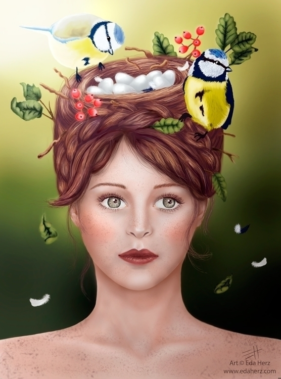 Nest' (2013 - illustration, painting - edaherz | ello