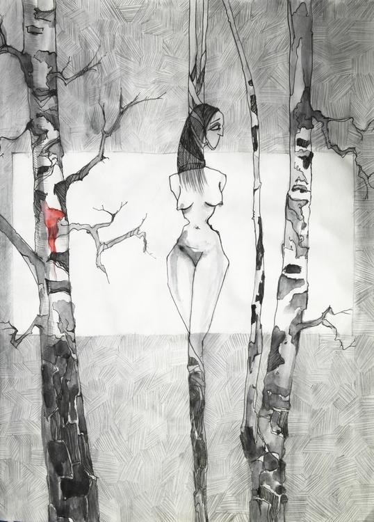 Sketch free topic - 01, illustration - marinkalabutinka | ello
