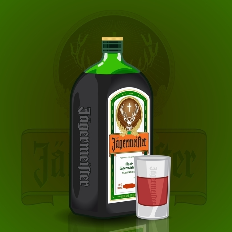 alcohol series - jagermeister - vector - rajchozhiath | ello
