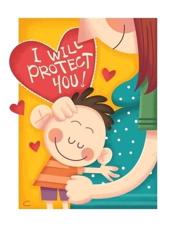 baby, illustration, mum, card - cynthiaxing | ello