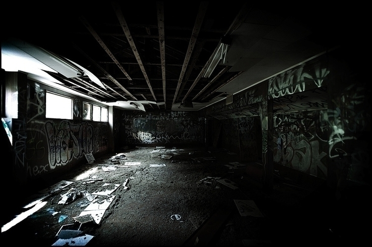 abandoned sports stadium - markhamiltonphotographer - marham1160 | ello