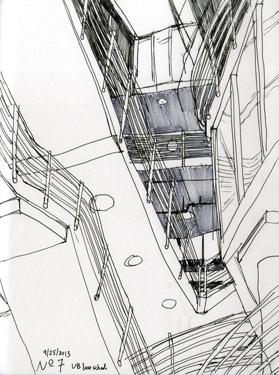 UB law center - 3, drawing, sketchbook - ononlao | ello