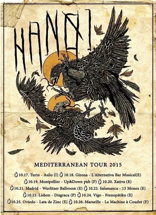 tour poster band Hanoi - hanoihardcore - shapefromhell | ello