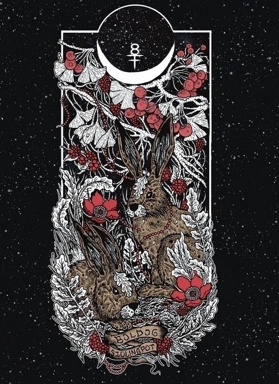 skateboard illustration - bunny - shapefromhell | ello