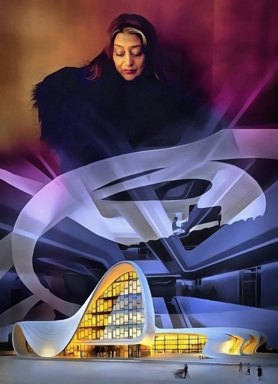 Tribute Zaha Hadid - illustration - bariom | ello