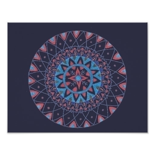 blue orange mandala - drawing - vincevicari | ello