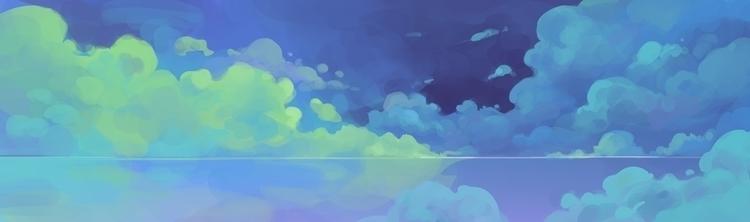 cloud, sea, blue - cynthiaxing | ello