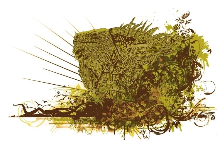 AZTEC IGUANA - iguana, animals, animal - bcastaneda | ello