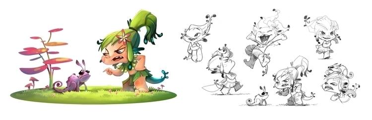 fairy, pose, characterdesign - cynthiaxing   ello