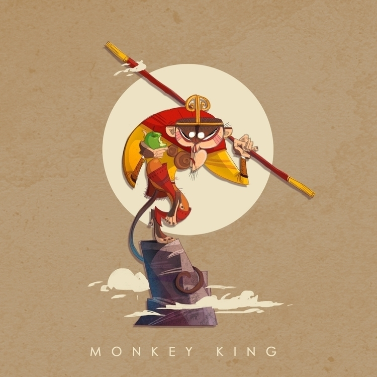 monkeyking, monkey, journeytothewest - cynthiaxing | ello