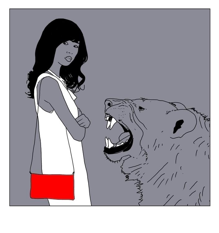 Grrr  - illustration, drawing, conceptart - cs-2874 | ello