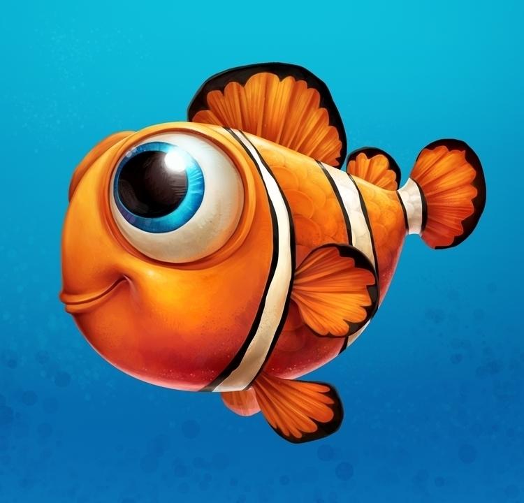 fish, clownfish, animal, cartoon - cynthiaxing | ello