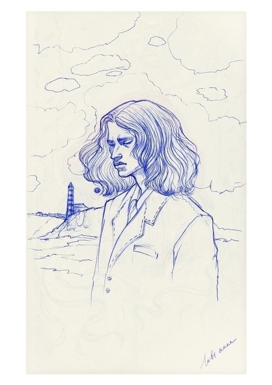 ' howler ballpointed pen drawin - annaorca | ello