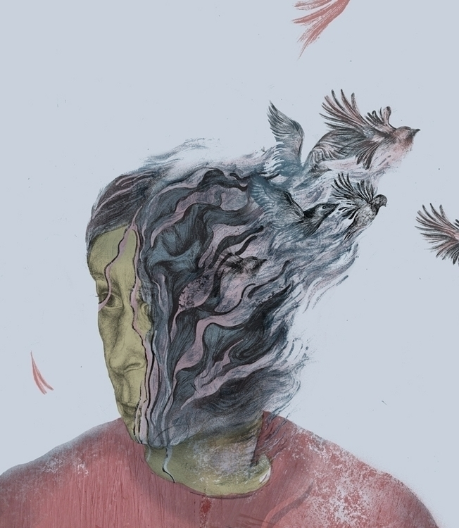Fragile Mind - illustration, pencil - paojulin | ello
