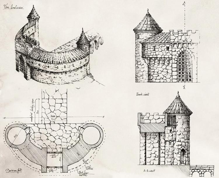 BARBICAN (tabletop miniatures - illustration - grimdream | ello