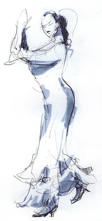 Flemenco | Sketch - sketch, dance - liovamilla | ello