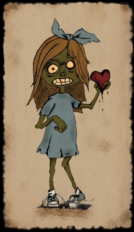 Valentine Zombie Girl - illustration - graphicrule | ello
