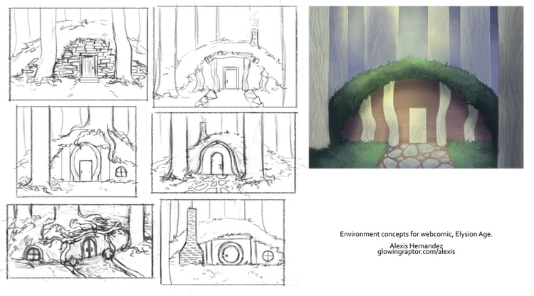 Development art comic, Elysion  - allytha | ello