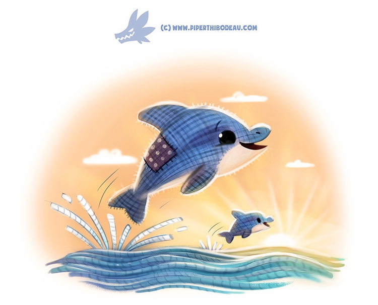Daily Paint Dollphin - 1230. - piperthibodeau | ello