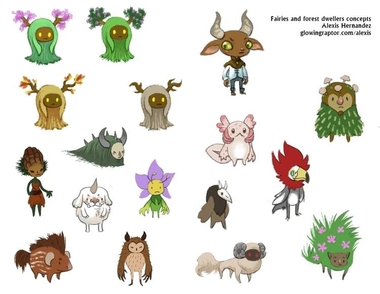 Fairy concepts - characterdesign - allytha | ello