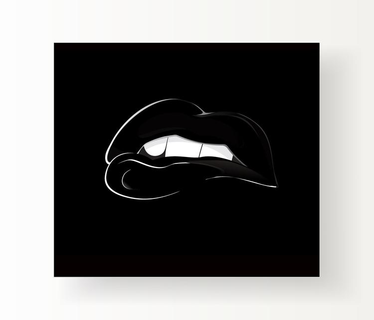 BW - blackandwhite, lips, poster - cardula | ello