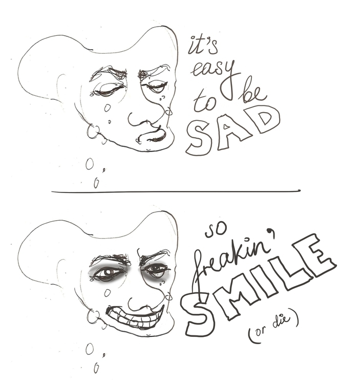 Smile die - sketch, quote - liovamilla | ello