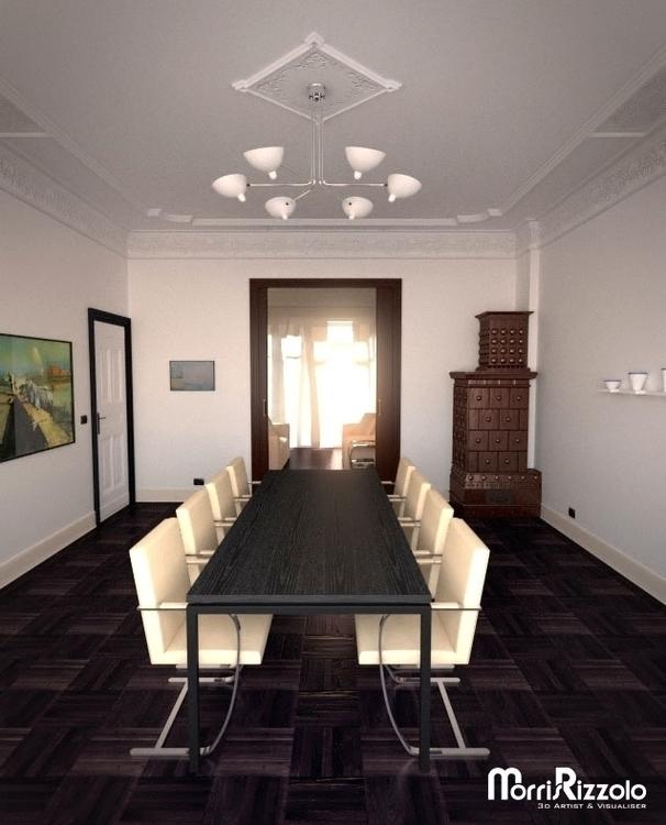 dining room - 3d, interior, 3dinteriordesign - morris_rizzolo | ello