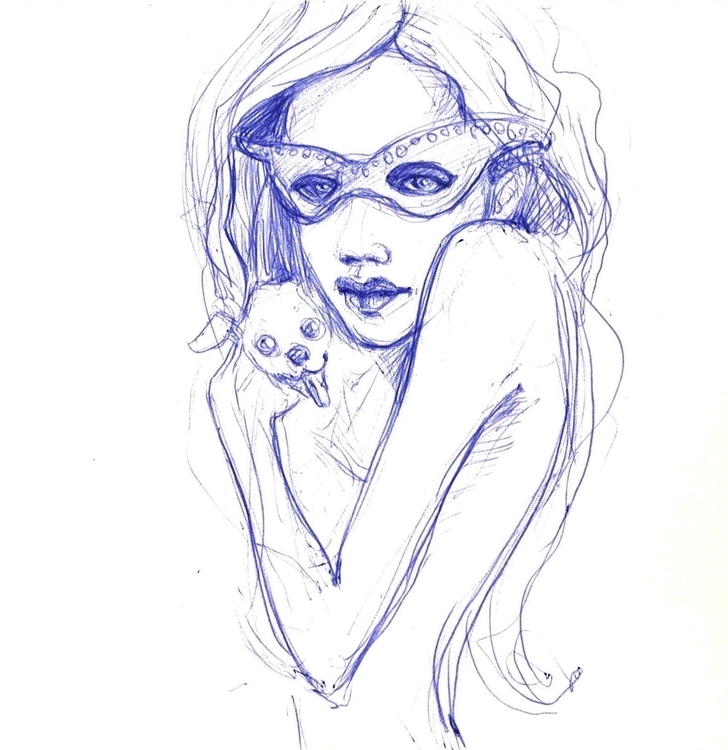 Girl dog - sketch - liovamilla | ello