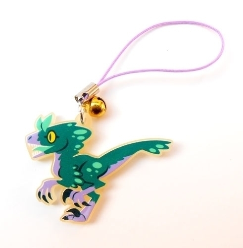 Raptor acrylic charm - raptor, dinosaur - allytha | ello