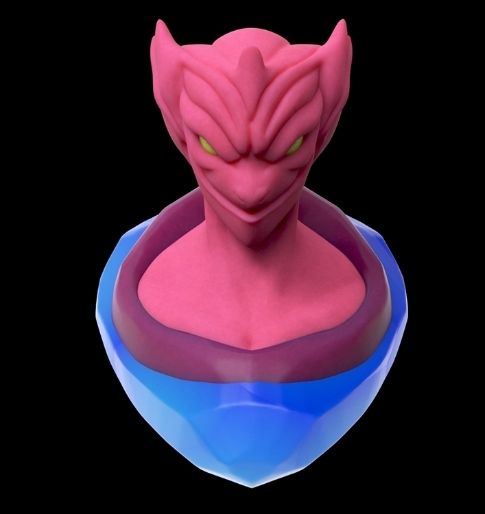 Pink Commander - sculpture, sculpt - siddp | ello