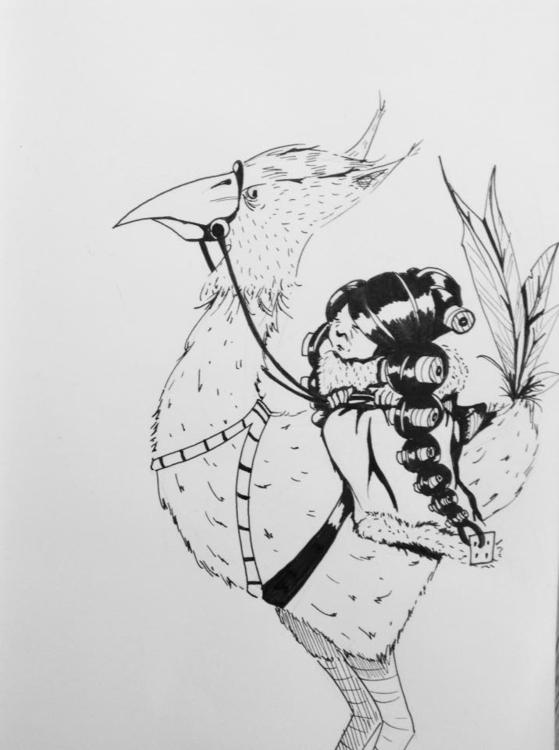 INKtober - 4, ink, inktober, illustration - macbeth-9268 | ello