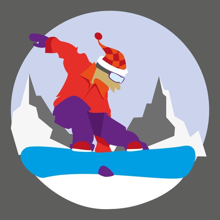 Snowboarder - illustration, snowboard - mp-1845 | ello