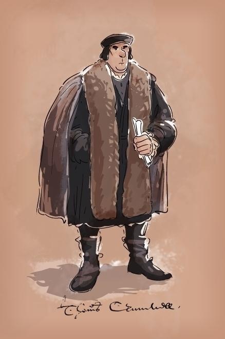 Oliver Cromwell - tudor, fanart - mcrotts | ello