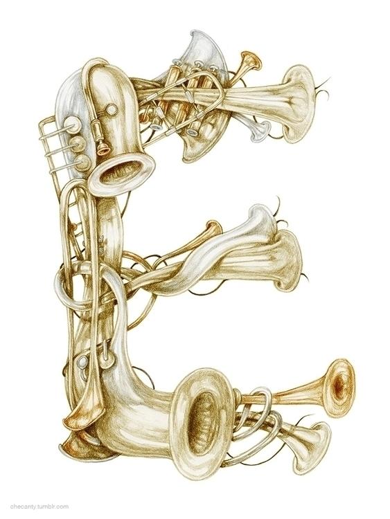 musicalinstruments, illustratedtype - checanty | ello