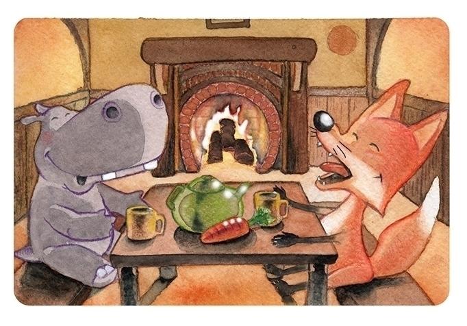 Fox Hippo dinner. Personal work - comicsoon | ello
