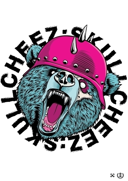 Skullcheez Bear - vector, illustration - e1_since1987 | ello